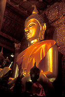 Buddhas in a temple in Luang Prabang, Laos, a UNESCO World Heritage Center.