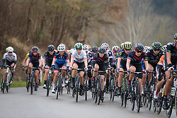 CANYON//SRAM well represented in the front group with Elena Cecchini and Tiffany Cromwell at Strade Bianche - Elite Women. A 127 km road race on March 4th 2017, starting and finishing in Siena, Italy. (Photo by Sean Robinson/Velofocus)