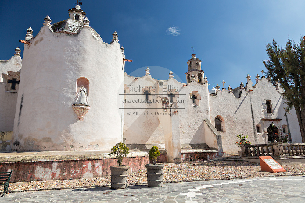 Facade of the fortress like Mexican baroque Sanctuary of Atotonilco, and important Catholic shrine in Atotonilco, Mexico.