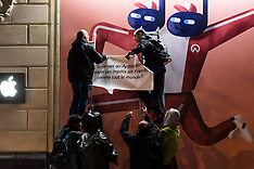 Attac Activists Carried Collage Action On The Future Apple Store in Paris - 12 Nov 2018