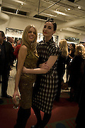 DONNA AIR AND ERIN O'CONNOR , Book launch for ÔThe Measure' edited by Louise Clarke. 	 commissioned by the London College of Fashion. Bluebird. King's Rd. London. 21 November 2007. -DO NOT ARCHIVE-© Copyright Photograph by Dafydd Jones. 248 Clapham Rd. London SW9 0PZ. Tel 0207 820 0771. www.dafjones.com.