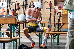 02-08-2018: Wielrennen: Dion Beukeboom: Alkmaar<br /> <br /> Dion Beukeboom (Vlasman CT)<br /> <br /> Aanval op wereld uurrecord op de baan - Uurtest-training<br /> <br /> Sportpaleis Alkmaar