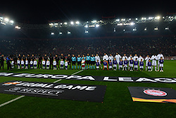 December 13, 2018 - Piraeus, Attiki, Greece - Both teams, Milan (left) and Olympiacos (right) before the start of the match. (Credit Image: © Dimitrios Karvountzis/Pacific Press via ZUMA Wire)