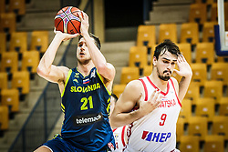 Dario Saric of Croatia during friendly basketball match between Slovenia and Croatia , on September 8, 2018 in Arena Zlatorog, Celje, Slovenia. Photo by Ziga Zupan / Sportida