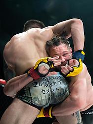 April 28, 2018 - GöTeborg, SVERIGE - 180428 Carlo Pedersoli Jr and Nicolas Dalby under MMA-galan Cage Warriors 93 den 28 april 2018 i Göteborg  (Credit Image: © Mathias Bergeld/Bildbyran via ZUMA Press)