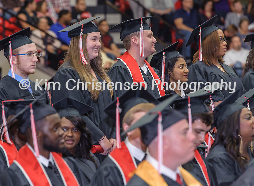 Lee College 2015 Fall Graduation held in the gymnasium 12/12/15. (Photos by ©Kim Christensen)