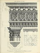 Design for a Norman Gothic Entablature Copperplate engraving From the Encyclopaedia Londinensis or, Universal dictionary of arts, sciences, and literature; Volume II;  Edited by Wilkes, John. Published in London in 1810