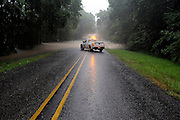 A  road truck blocks County Road 1330 in Smith County Texas after torrential rains caused road closures throughout East Texas on Thursday. Photo: Jaime R. Carrero/Tyler Morning Telegraph