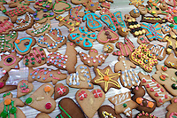 Decorated ginger breads for Christmas