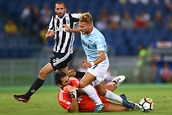 August 13, 2017 - Rome, Italy - The penalty foul by Gianluigi Buffon of Juventus on Ciro Immobile of Lazio  during the Italian Supercup match between Juventus and SS Lazio at Stadio Olimpico on August 13, 2017 in Rome, Italy. (Credit Image: © Matteo Ciambelli/NurPhoto via ZUMA Press)