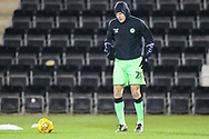 Forest Green Rovers Paul Digby(20) warming up during the The FA Cup 1st round replay match between Forest Green Rovers and Oxford United at the New Lawn, Forest Green, United Kingdom on 20 November 2018.