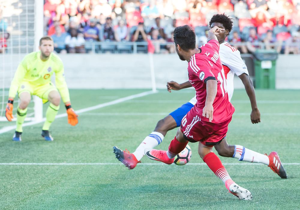 OTTAWA, ON - JULY 29: USL match between the Ottawa Fury FC and Toronto FC II at TD Place Stadium in Ottawa, ON. Canada on July 29, 2017.<br /> <br /> PHOTO: Steve Kingsman/Freestyle Photography/Ottawa Fury FC