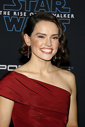 Daisy Ridley at the World premiere of Disney's 'Star Wars: The Rise Of Skywalker' held at the Dolby Theatre in Hollywood, USA on December 16, 2019.