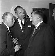 05/09/1961<br /> 09/05/1961<br /> 05 September 1961<br />  Minister for Posts and Telegraphs Michael Hilliard launches Telefis Eireann. The minister (right) at the Kippure transmitter site, Co. Dublin/Wicklow.