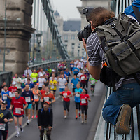 Thousands participate in the Budapest Marathon in Budapest, Hungary on October 07, 2012. ATTILA VOLGYI