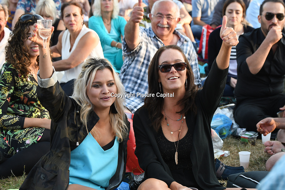 Tousands attend having a picnic to watch the THE AMERICANS & THE GIPSY KINGS at Kew The Music Festival 2018 at Kew Garden on 11th July 2018, London, UK.