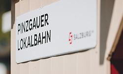 THEMENBILD - ein Schild der Pinzgauer Lokalbahn, die zur Salzburg AG gehört, aufgenommen am 08. Mai 2020, Bramberg, Österreich // a sign of the Pinzgauer Lokalbahn, which belongs to Salzburg AG on 2020/05/08, Bramberg, Austria. EXPA Pictures © 2020, PhotoCredit: EXPA/ Stefanie Oberhauser