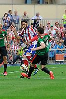 Atletico de Madrid´s Raul Garcia and Athletic Club´s Aymeric Laporte during 2014-15 La Liga match between Atletico de Madrid and Athletic Club at Vicente Calderon stadium in Madrid, Spain. May 02, 2015. (ALTERPHOTOS/Luis Fernandez)