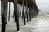 NC01275-00...NORTH CAROLINA - A stormy day at Nags Head Pier.