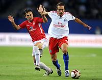Fotball<br /> Tyskland<br /> Foto: Witters/Digitalsport<br /> NORWAY ONLY<br /> <br /> 01.10.2009<br /> <br /> v.l. Berbars Natcho, Joris Mathijsen HSV<br /> <br /> Europa League Hamburger SV - Hapoel Tel Aviv