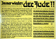 German Word War 2 anti-semitic propaganda leaflet