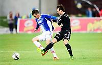Fotball , 19. mai 2014, Tippeligaen , Eliteserien , Sarpsborg - Rosenborg 1-1<br /> Martin Tømt Jensen , Sarpsborg<br /> Mike Lindemann Jensen , RBK