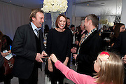 PHILIP GLENISTER; KEELEY HAWES; JOHN SIMM English National Ballet's party before performance of the ' The Nutcracker. St. Martin's Lane Hotel. London 14 December 2011.