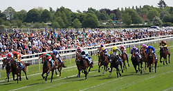 Signora Cabello ridden by Jason Hart (third left) wins the Langleys Solicitors British EBF Marygate Fillies' Stakes during day three of the 2018 Dante Festival at York Racecourse.