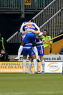 Reading players celebrate Pavel Pogrebnyak goal during the Sky Bet Championship match between Wolverhampton Wanderers and Reading at Molineux, Wolverhampton, England on 7 February 2015. Photo by Alan Franklin.