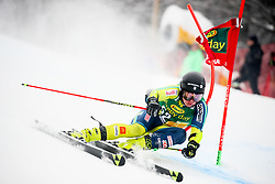 Kristoffer Jakobsen of Sweden competes during 1st run of Men's GiantSlalom race of FIS Alpine Ski World Cup 57th Vitranc Cup 2018, on March 3, 2018 in Kranjska Gora, Slovenia. Photo by Ziga Zupan / Sportida