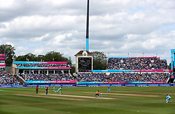 A general view of the match action during the ICC Cricket World Cup group stage match at Edgbaston, Birmingham.