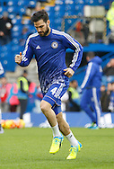 Chelsea midfielder Cesc Fabregas warming up before the Barclays Premier League match between Chelsea and Everton at Stamford Bridge, London, England on 16 January 2016. Photo by Andy Walter.