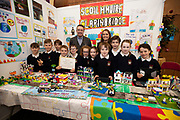 24/11/2019 repro free:  Paul Mee Chairman Galway  Science and Technology Festival with  Scoil  Mhuire Clarinbrideg at the exhibition day of the Galway Science and Technology Festival at NUI Galway where over 20,000 people attended exhibition stands  from schools to Multinational Companies . Photo:Andrew Downes, xposure