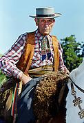 Gaucho Riding His Horse At Las Brujas Ranch, Uruguay