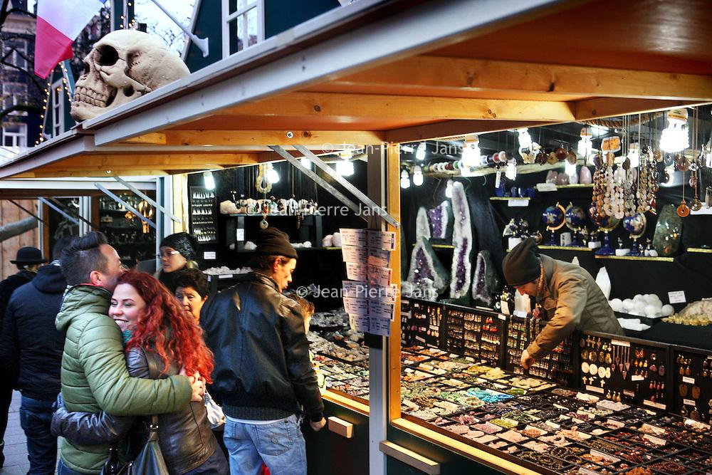 Nederland, Amsterdam , 30 november 2014.<br /> Kerstmarkt op het Rembrandtplein.<br /> Foto:Jean-Pierre Jans