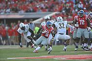 Mississippi Rebels running back Jaylen Walton (6) runs against Vanderbilt Commodores at Vaught-Hemingway Stadium at Ole Miss in Oxford, Miss. on Saturday, September 26, 2015. (AP Photo/Oxford Eagle, Bruce Newman)