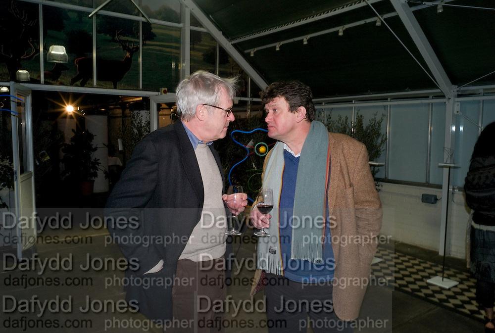 JULIAN HOPE; ROWLEY LEIGH, David Macilwaine sculptures at Clifton Nurseries. London. 1 April  2009