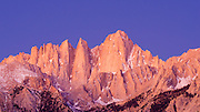 Dawn light on the east face of Mount Whitney, Sequoia National Park, California USA