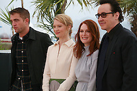 Robert Pattinson, Mia Wasikowska, Julianne Moore and John Cusack at the photo call for the film Maps To The Stars at the 67th Cannes Film Festival, Monday 19th May 2014, Cannes, France.
