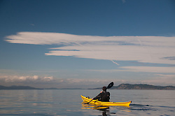 Jason Paddles On, San Juan Islands, Washington, US