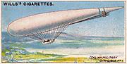 Aviation, 1910:  Italian Army Dirigible 1 (airship).