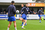 AFC Wimbledon Midfielder Anthony Wordsworth (40) warms-up ahead of the EFL Sky Bet League 1 match between AFC Wimbledon and Wycombe Wanderers at the Cherry Red Records Stadium, Kingston, England on 27 April 2019.
