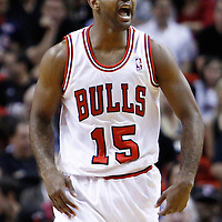 29 January 2012: Chicago Bulls point guard John Lucas (15) is seen during the Miami Heat 97-93 victory over the Chicago Bulls at the AmericanAirlines Arena, Miami, Florida, USA.