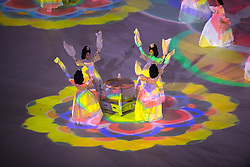 March 9, 2018 - Pyeongchang, South Korea - Artists perform during Opening Ceremony for the 2018 Pyeongchang Winter Paralympic Games March 9, 2018. Photo by Mark Reis (Credit Image: © Mark Reis via ZUMA Wire)