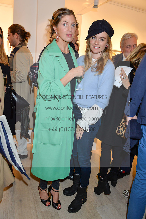 Left to right, sisters GEORGIANA ANSTRUTHER and CRESSIDA BONAS at a private view entitled Stop Making Sense featuring work by Georgiana Anstruther and Carol Corell held at Lacey Contemporary, 8 Clarendon Cross, London on 9th March 2016.