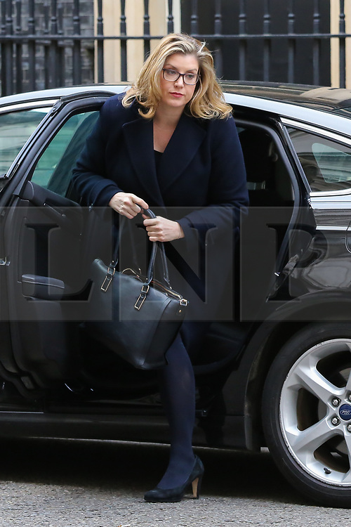 © Licensed to London News Pictures. 12/02/2019. London, UK. Penny Mordaunt - Secretary of State for International Development and Equalities Minister arrives in Downing Street for the weekly Cabinet meeting. Photo credit: Dinendra Haria/LNP