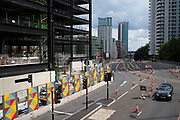 New buildings under construction as part of the Paradise redevelopment on 3rd August 2021 in Birmingham, United Kingdom. Paradise, formerly named Paradise Circus, is the name given to an area of approximately 7 hectares in Birmingham city centre between Chamberlain and Centenary Squares. The area has been part of the civic centre of Birmingham since the 19th century. From 2015 Argent Group will redevelop the area into new mixed use buildings and public squares.