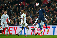 Tim Weah of USA heads the ball during the International Friendly match between England and USA at Wembley Stadium, London, England on 15 November 2018.