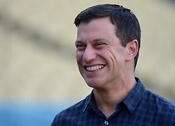 October 6, 2017 - Los Angeles, California, U.S. - Los Angeles Dodgers President of Baseball Operations Andrew Friedman smiles prior to a National League Divisional Series baseball game against the Arizona Diamondbacks at Dodger Stadium on Friday, Oct. 06, 2017 in Los Angeles. (Photo by Keith Birmingham, Pasadena Star-News/SCNG) (Credit Image: © San Gabriel Valley Tribune via ZUMA Wire)