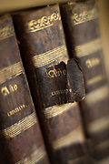 Torn book in Church of Vilupulli on Chiloe Island, Chile